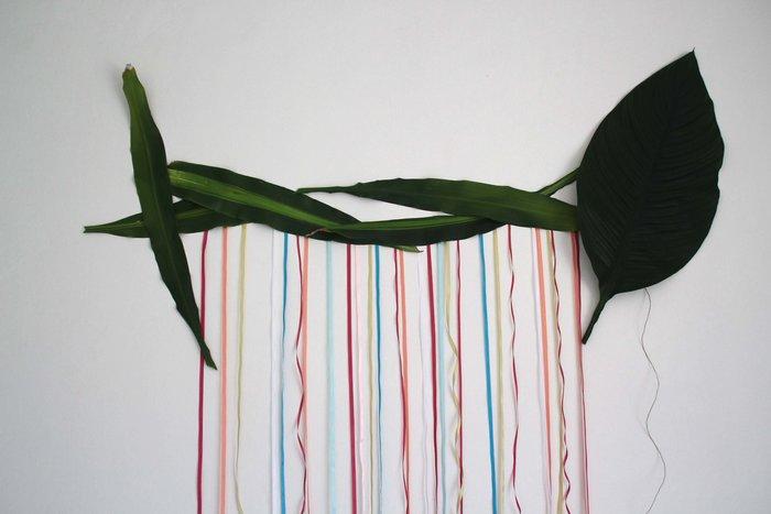 Guirlande fleurs, fleuillages et rubans #CocoCrea16 -Ajout du végétal