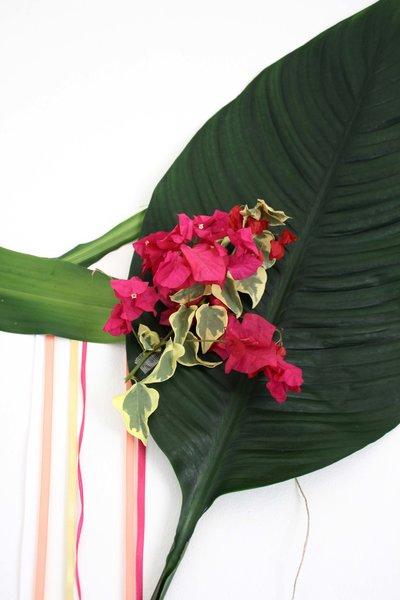 Guirlande fleurs, fleuillages et rubans #CocoCrea16 -Ajout des fleurs