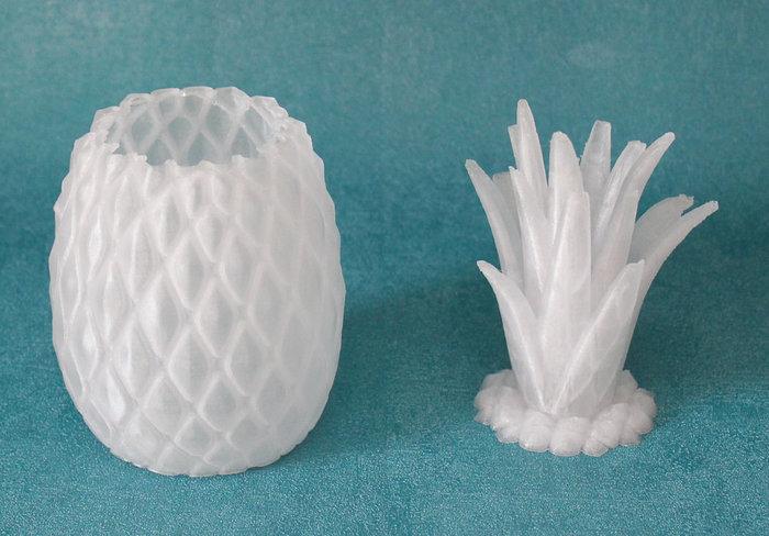 Ananas 3D lumineux #CocoCrea19 -Le post traitement