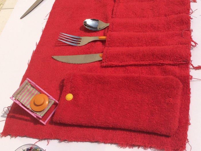 Porte-couverts/set de table avec pochette amovible-Etape 5