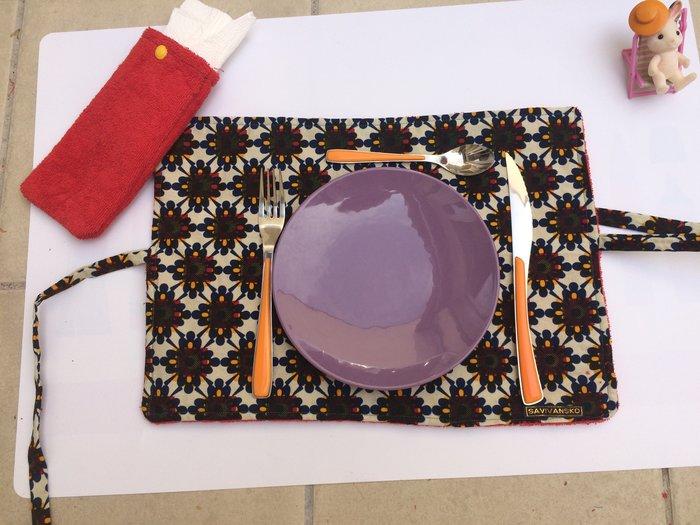 Porte-couverts/set de table avec pochette amovible-TA DAMMMMMM