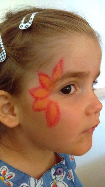 Animation belly painting et maquillage #CocoCrea18-La fleur tropicale