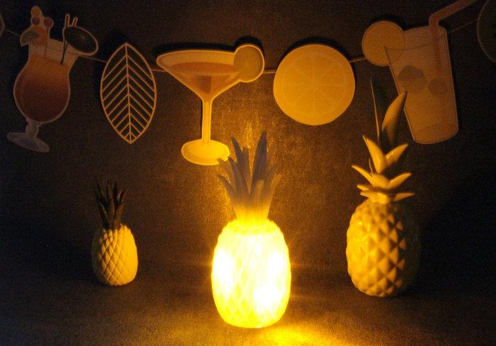 Ananas 3D lumineux #CocoCrea19 -Résultat