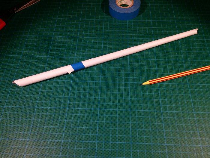 Trompette en papier-Faire un tube