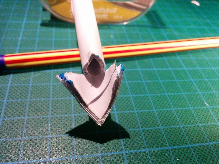 Trompette en papier-Préparer les lamelles
