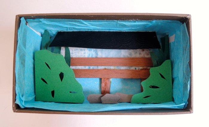 Diorama jardin japonais: DIY  -Le fond de la boite et le centre