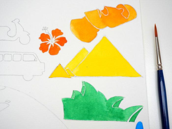 Un cadre vitrine à plusieurs plans-L'aquarelle