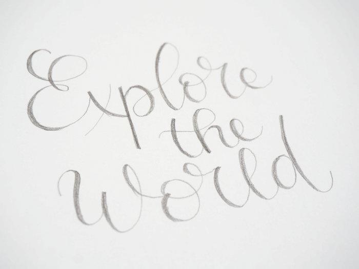 Un cadre vitrine à plusieurs plans-Le lettering (calligraphie moderne)