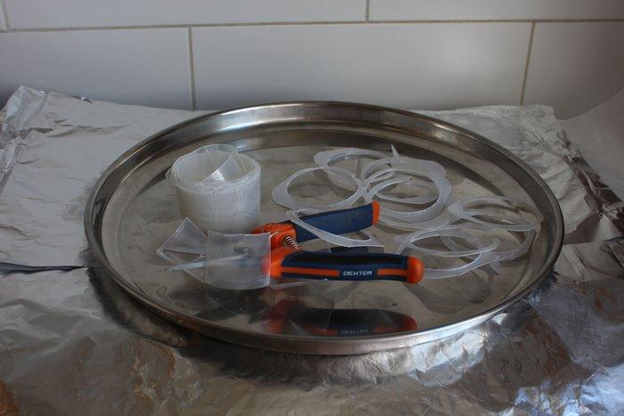 Pâte plastique en polystyrène de récupération, à mouler -Découpage
