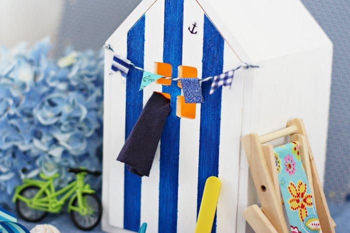 Une cabine de plage lumineuse-Ma petite cabine de plage