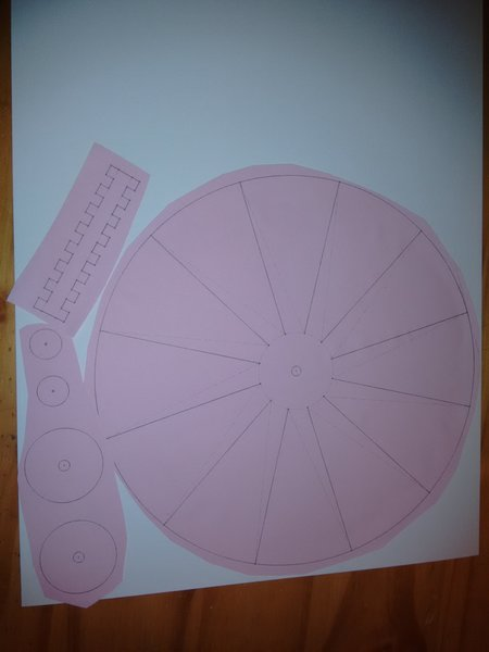 Ventilateur de table en carton-Couper et coller les templates sur le carton