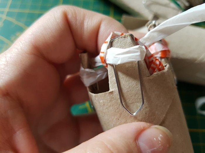 Décoration en tricotin recyclé.-Le titre de votre étape ici