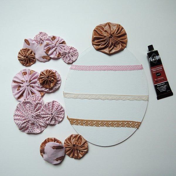 Un cadre pour ranger vos boucles d'oreilles-Collage des yoyos