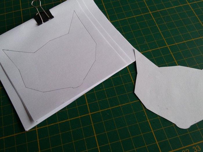 Mon petit carnet en plastique dingue -Préparation des feuilles du carnet