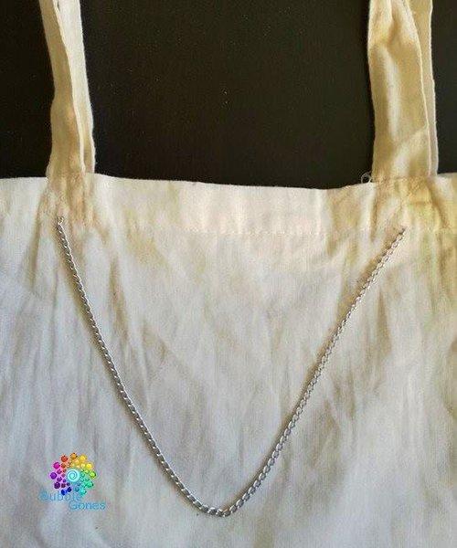 Un sac fourre tout pour l'été avec le plastique dingue !-Montage sur le sac