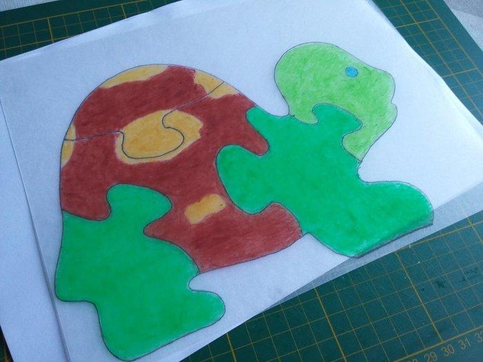 Puzzle en plastique fou -Dessiner et colorier
