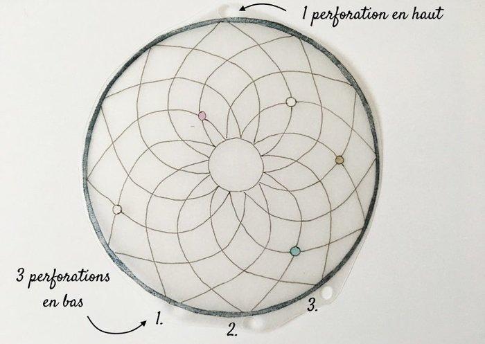 L'attrape-rêves bijou de sac (DIY plastique dingue)-Découper et perforer les formes