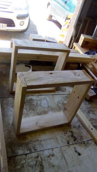DIY : Un tabouret de bar en palettes-création du support de l'assise