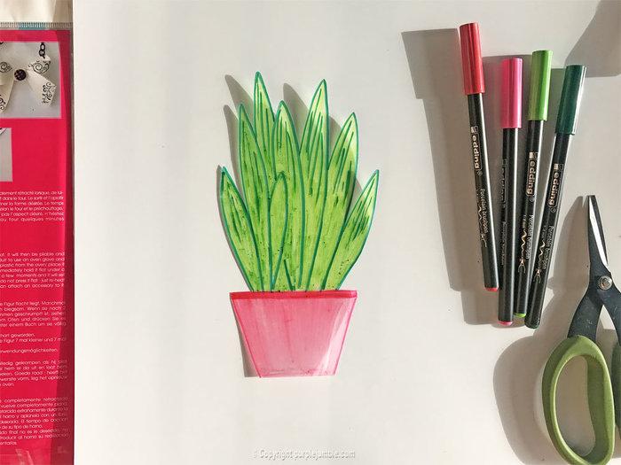 Un cadre de cactus en plastique dingue-Dessiner les cactus