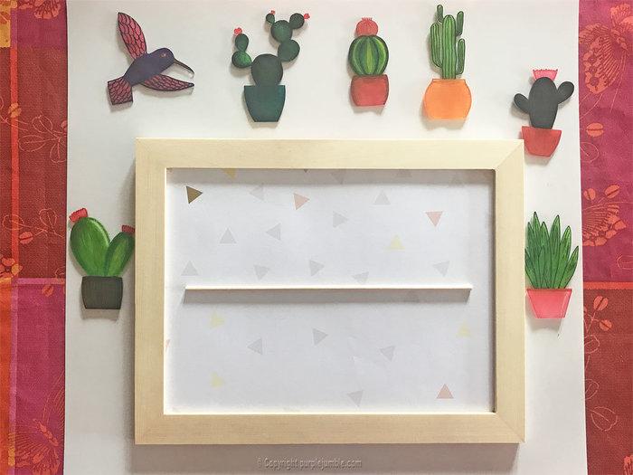 Un cadre de cactus en plastique dingue-Installer les pièces dans le cadre