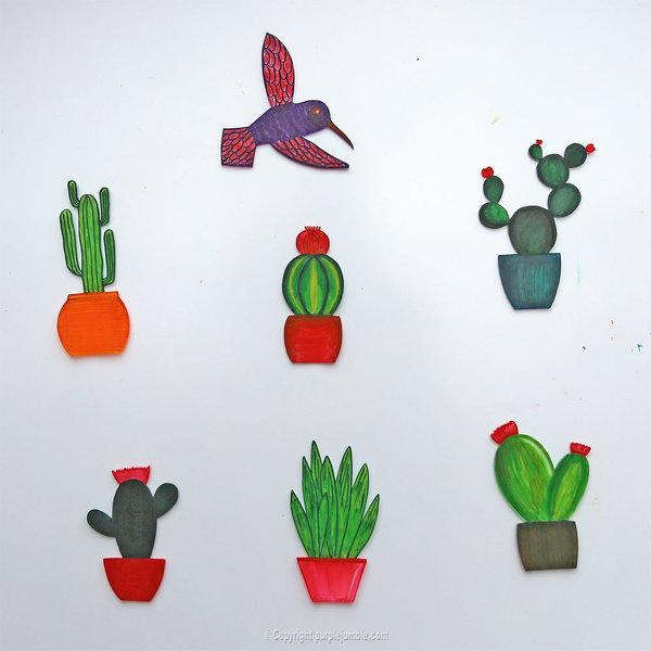 Un cadre de cactus en plastique dingue-Faire cuire les cactus au four