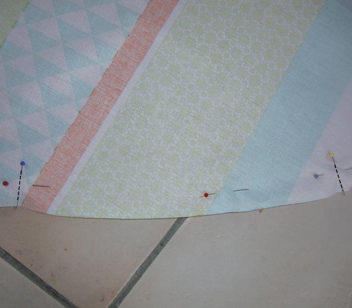 Une serviette de plage ronde-La couture