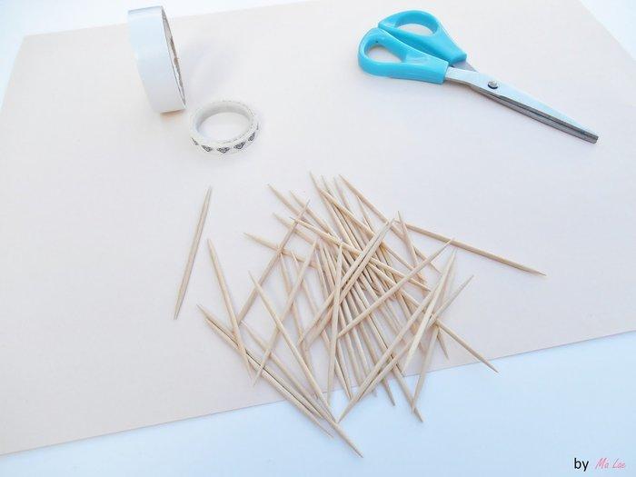 Mini jeu de Mikado avec des cures dents-Préparation des cures dents