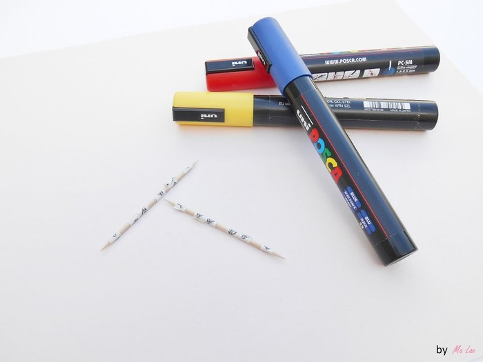 Mini jeu de Mikado avec des cures dents-Customisation des cures dents