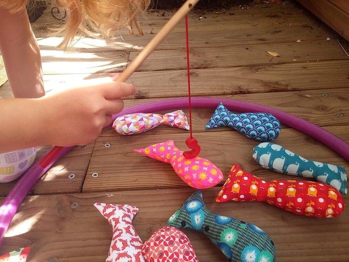 Une pêche de poissons multicolors !-Réalisation des poissons