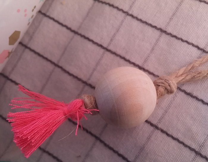 Une guirlande de mini fanions-Réalisation de la guirlande