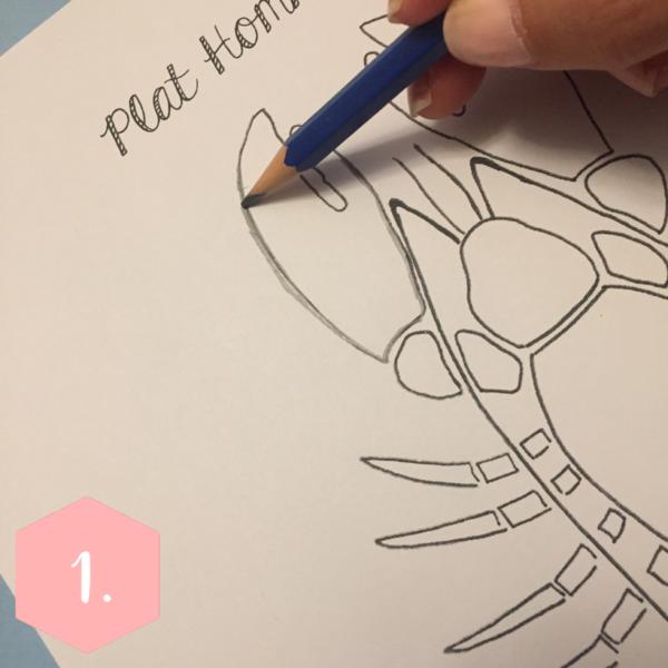 Le plat homard-Décalquez le motif