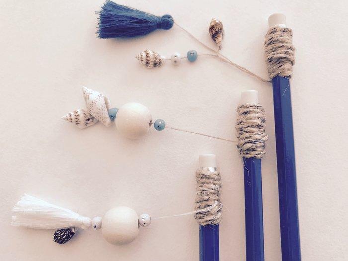 DIY : Crayons à grigris coquillages pour la rentrée-L'assemblage :
