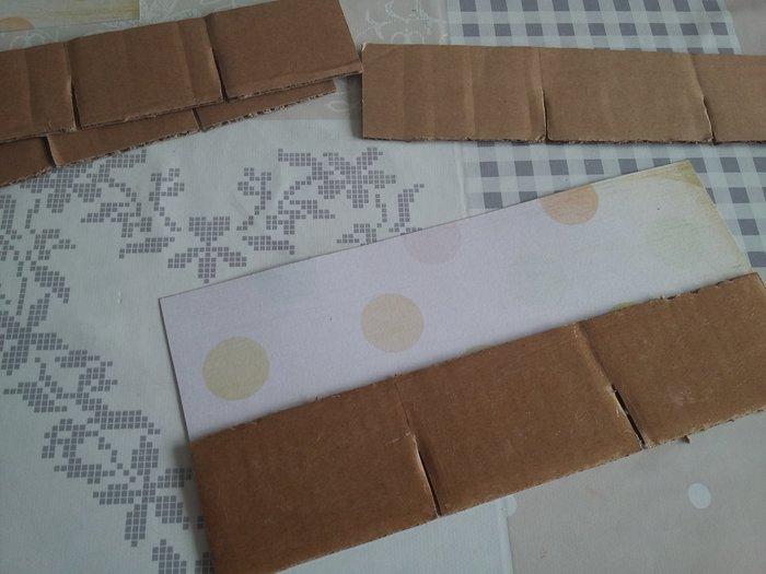 DIY : Boîte accessoires à cheveux-Réalisation des séparations à l'intérieur de la boîte