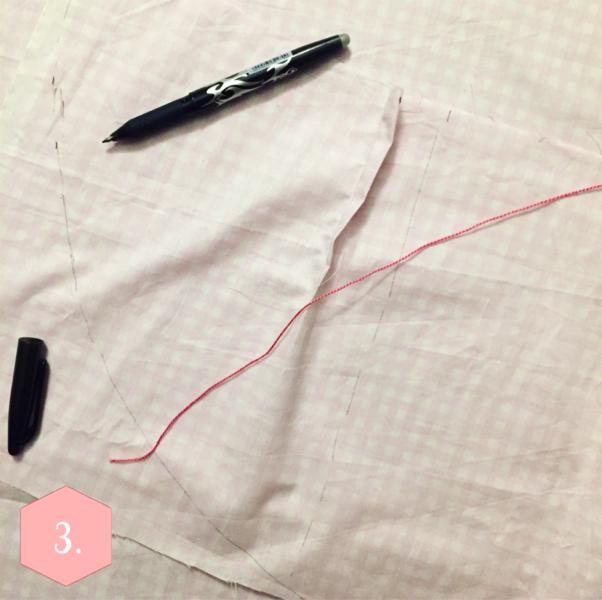 La jupe portefeuille-Les pinces