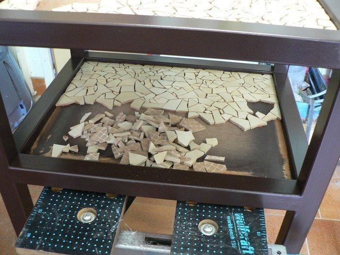 """Revêtement de table style """"mosaïque""""-Collage"""