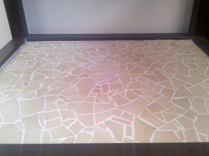 """Revêtement de table style """"mosaïque""""-Nettoyage et jointoiement"""