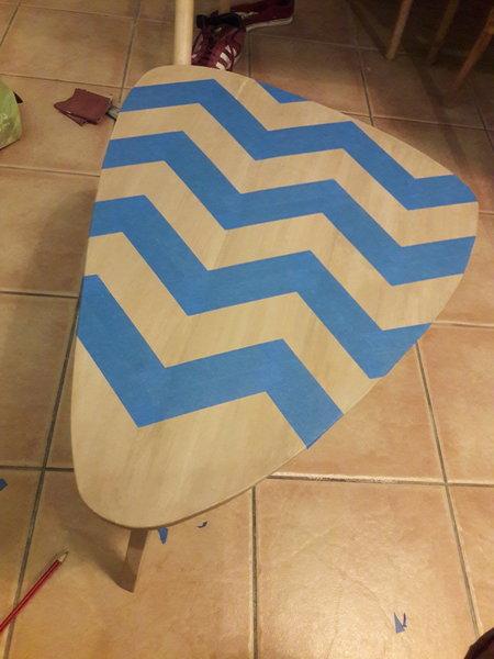 Table basse motif ZigZag-Enfin, le motif zigzag