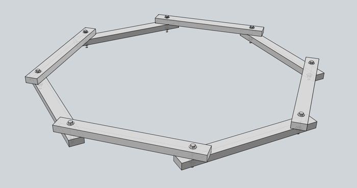 Barbecue solaire-Chassis