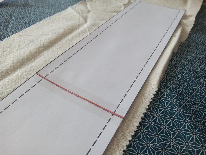 DIY : coussin pour bracelets-découper le tissu selon le patron