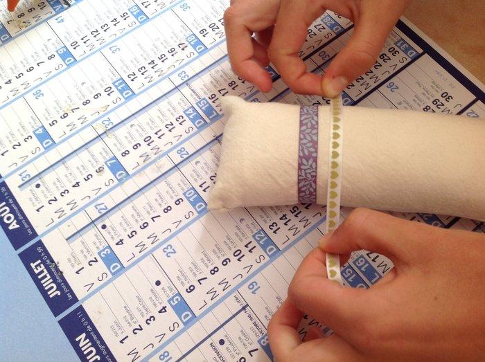 DIY : coussin pour bracelets-(Facultative) Ajout de rubans colorés