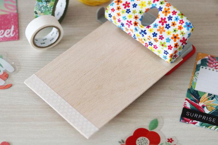 Créer des cartes en balsa et masking tape-Le titre de votre étape ici