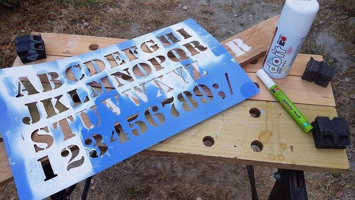 Panneaux pour évènement -Pochoir pour lettres