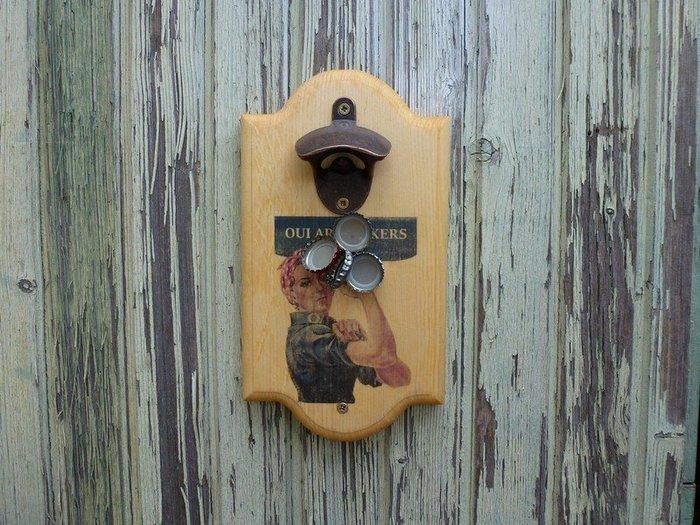 Décapsuleur mural OAM-Finition du bois et pose de l'ouvre-bouteille