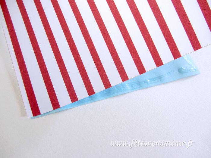 Moulins à vent de papier-Collez les carrés