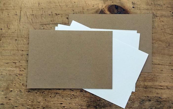 Un Album photos fait maison-Préparation du papier