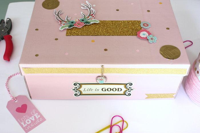 Esprit récup et rose poudré pour cet ensemble de bureau-Décorez la boîte
