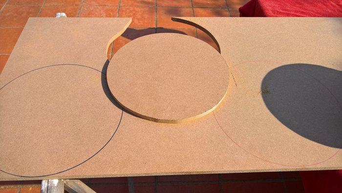 DIY : Table d'appoint à 3 plateaux-Découpe des plateaux
