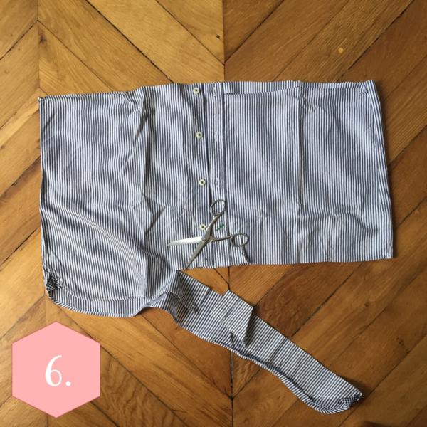 La robe chemise de la rentrée-Etape 3 : Le bas de la robe