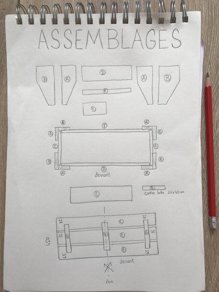BANCS convertibles en TABLE DE PIQUE-NIQUE -L' ASSEMBLAGE du bas