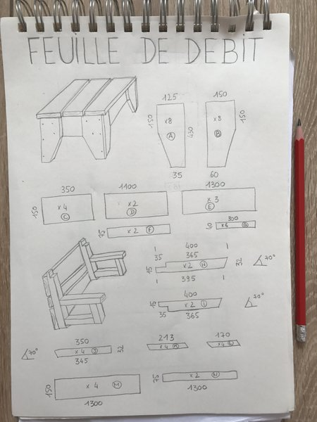 BANCS convertibles en TABLE DE PIQUE-NIQUE -Le DÉBIT